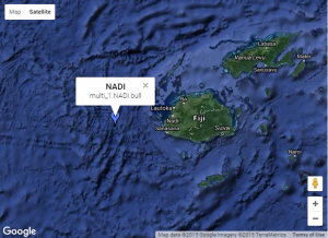 Location of Nadi, Fiji forecast point