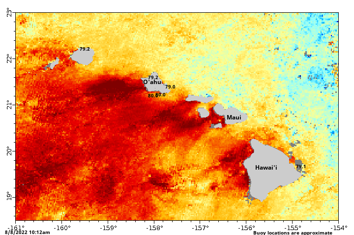 Water Temperature Map
